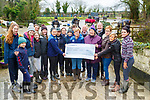 Cheque Presentation : Jacinta Bradley & Maureen O'Brien from Recovery Haven Cancer Support Home receiving a cheque for  €1900.00 the proceeds of a Jumping Day at Stream Side Stables, Moyvane from Tracey Quinn & Miaraim O'Leary and other members of the fundraising committee at the Stream Side Stables on Saturday last.