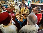Divine Liturgy and Slava of St. Sebastian of Jackson, St. Sava Serbian Orthodox Church, California, on the day of his feast, November 30, 2018.