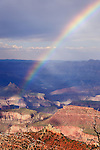 Rainbow over South Rim, Grand Canyon