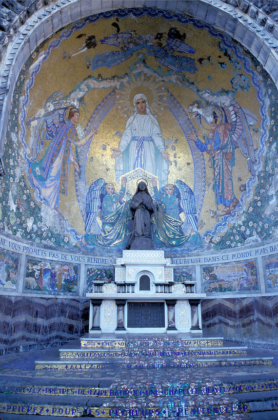 pilgrim, France, Lourdes, Hautes-Pyrenees, Midi-Pyrenees, Europe, Basilica of the Rosary, World Pilgrimage Center.