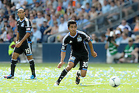 San Jose midfielder Rafael Baca (30) in action... Sporting Kansas City defetaed San Jose Earthquakes 2-1 at LIVESTRONG Sporting Park, Kansas City, Kansas.