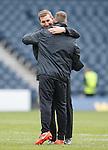 Alan Stubbs celebrates at full-time