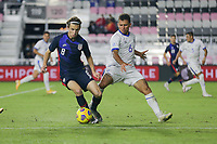 FORT LAUDERDALE, FL - DECEMBER 09: Brenden Aaronson #8 of the United States chases down a loose ball during a game between El Salvador and USMNT at Inter Miami CF Stadium on December 09, 2020 in Fort Lauderdale, Florida.