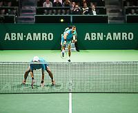 Rotterdam, The Netherlands, February 12, 2016,  ABNAMROWTT, Jean-Julien Rojer (NED) / Horia Tecau (ROU)<br /> Photo: Tennisimages/Henk Koster