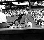 Oakland Section of Pittsburgh:  Fans watching the annual HYPO baseball game at historic Forbes Field in Pittsburgh. The money raised by HYPO (Help Young Players Organize) was used to help local communities buy equipment and build ball fields.  Forbes Field was a baseball park in the Oakland neighborhood of Pittsburgh, from 1909 to 1971. It was the third home of the Pittsburgh Pirates, and the first home of the Pittsburgh Steelers, the city's National Football League franchise. The stadium also served as the home football field for the University of Pittsburgh Panthers from 1909 to 1924. The stadium was named after British general John Forbes who fought in the French and Indian War, and named the city in 1758.