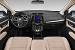 Stock photo of straight dashboard view of 2020 Honda CR-V LX 5 Door SUV Dashboard