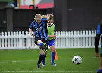 Capital Under-10 Girls Football - Miramar Rangers Onyx v Petone GOL U10 Settlers at the Basin Reserve in Wellington, New Zealand on Sunday, 6 June2021. Photo: Dave Lintott / lintottphoto.co.nz