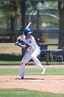 AZL Dodgers first baseman Marco Hernandez (17) at bat during an Arizona League game against the AZL Padres 2 at Camelback Ranch on July 4, 2018 in Glendale, Arizona. The AZL Dodgers defeated the AZL Padres 2 9-8. (Zachary Lucy/Four Seam Images)