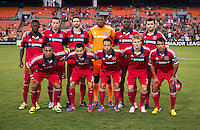 The Chicago Fire lines up before the game at RFK Stadium in Washington, DC.  D.C. United defeated the Chicago Fire, 4-2.