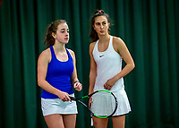Wateringen, The Netherlands, December 15,  2019, De Rhijenhof , NOJK juniors doubles 12/14/16  years, Charlotte Haas (NED) and Britt van Zeelst (NED) (L)<br /> Photo: www.tennisimages.com/Henk Koster