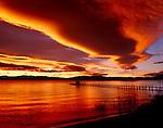 Sierra wave cloud over Lake Tahoe, California