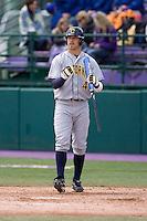 April 11, 2009:  University of California-Berkeley outfielder Brett Jackson at-bat during a Pac-10 game against the University of Washington at Husky Ballpark in Seattle, Washington.