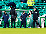 Celtic v St Johnstone…06.12.20   Celtic Park      SPFL<br />Managers Neil Lennon and Callum Davidson greet each other before kick off<br />Picture by Graeme Hart.<br />Copyright Perthshire Picture Agency<br />Tel: 01738 623350  Mobile: 07990 594431