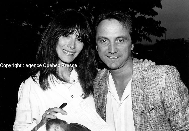 CLAUDE DUBOIS,<br /> Lancement,<br /> 10 juin 1985<br /> <br /> PHOTO : Agence Quebec Presse