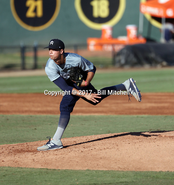 Nick Nastrini plays in the 2017 Area Code Games on August 6-10, 2017 at Blair Field in Long Beach, California (Bill Mitchell)