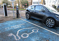 Charging points for Electric and Hybrid Plug In Cars<br /> UK car sales hit 28-year low in 2020, but the Electric Vehicle market has grown rapidly.<br /> There wasa fall of almost 30% in car registrations in the UK last year, with 1.63 million cars sold which is the lowest total since 1992 as the industry was hit badly by the effects of Covid-19 lockdowns. But sales of both electric cars and hybrids both rose sharply, with plug-in cars now accounting for more than 10 per cent of the UK market. UK Sunday January 10th 2021<br /> <br /> Photo by Keith Mayhew