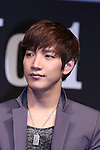 Junsu(2PM),  Ap12, 2012 : K-pop group 2PM, Junsu attends korean foods company 'Sempio' TV CM launch in Japan, 12 Apr 2012 Tokyo Japan