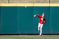 Mitch Matecki (8) of the Southern Illinois University- Edwardsville Cougars throws the ball back into the infield during a game against the Missouri State Bears at Hammons Field on March 9, 2012 in Springfield, Missouri. (David Welker / Four Seam Images)