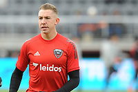 WASHINTON, DC - FEBRUARY 29: Washington, D.C. - February 29, 2020: Russell Canouse #4 of D.C. United during pre-game warmups. The Colorado Rapids defeated D.C. United 2-1 during their Major League Soccer (MLS)  match at Audi Field during a game between Colorado Rapids and D.C. United at Audi FIeld on February 29, 2020 in Washinton, DC.