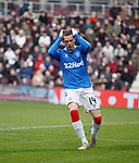 26.01.2020 Hearts v Rangers: Ryan Kent reacts after missing