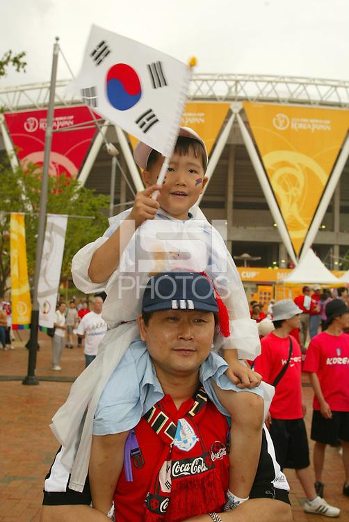 South Korean fans. The USA tied South Korea, 1-1, during the FIFA World Cup 2002 in Daegu, Korea.