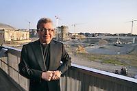 - Milan, the architect Daniel Libeskind visiting site of the new building compound CityLife<br /> <br /> - Milano, l'architetto Daniel Libeskind in visita al cantiere del nuovo complesso edilizio CityLife
