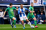 Martin Braithwaite of CD Leganes and Igor Zubeldia of Real Sociedad