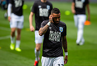uddersfield Town's Danny Simpson and his teammates wear shirts branded with Black Lives Matter<br /> <br /> Photographer Alex Dodd/CameraSport<br /> <br /> The EFL Sky Bet Championship - Huddersfield Town v Wigan Athletic - Saturday 20th June 2020 - John Smith's Stadium - Huddersfield <br /> <br /> World Copyright © 2020 CameraSport. All rights reserved. 43 Linden Ave. Countesthorpe. Leicester. England. LE8 5PG - Tel: +44 (0) 116 277 4147 - admin@camerasport.com - www.camerasport.com