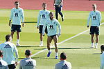 Spain's Mikel Oyarzabal, Sergio Canales, Sergio Ramos and Dani Olmo during training session. October 6,2020.(ALTERPHOTOS/Acero)