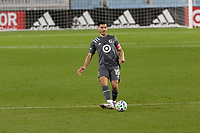 ST PAUL, MN - OCTOBER 28: Michael Boxall #15 of Minnesota United FC passes the ball during a game between Colorado Rapids and Minnesota United FC at Allianz Field on October 28, 2020 in St Paul, Minnesota.