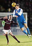 St Johnstone v Hearts…23.12.17…  McDiarmid Park…  SPFL<br />David Wotherspoon gets above Harry Cochrane<br />Picture by Graeme Hart. <br />Copyright Perthshire Picture Agency<br />Tel: 01738 623350  Mobile: 07990 594431