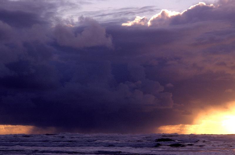 S00039.tiff   Thunderstorm and sunset. Near Newport, Oregon