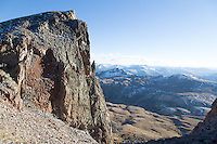 Cliffs near the summit of Uncompahgre Peak