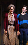 """Mercedes Ruehl and Michael Urie during the Broadway Opening Night Curtain Call for """"Torch Song"""" at the Hayes Theater on November 1, 2018 in New York City."""