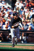 SAN FRANCISCO, CA - Mike Piazza of the New York Mets bats during Game 1 of the NLDS against the San Francisco Giants at Pacific Bell Park in San Francisco, California on October 4, 2000. Photo by Brad Mangin