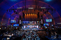 Interior of Radio City Music Hall during the 2012 NFL Draft at Radio City Music Hall in New York, NY, on April 26, 2012.