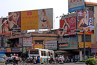 Billboards from some of the 100 factories at the International Underwear City, Yanbu Town, Nanhai District, Foshan City, Guangdong, China..01 Sep 2005