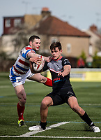 Alex Walker during the Kingstone Press Championship match between London Broncos and Rochdale Hornets at Castle Bar , West Ealing , England  on 26 March 2017. Photo by Steve Ball / PRiME Media Images.