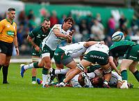 11th September 2021; Galway Greyhound Stadium, Connacht, Galway, Ireland; Pre-season rugby union, Connacht versus London Irish; Nick Phipps plays the ball out for London Irish