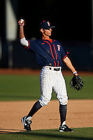 Matt Orloff #2 of the Cal State Fullerton Titans during a game against the Nebraska Cornhuskers at Goodwin Field on February 16, 2013 in Fullerton, California. Cal State Fullerton defeated Nebraska 10-5. (Larry Goren/Four Seam Images)