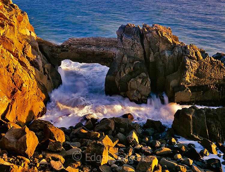 Sea Arch, Rock Outcrop, Point Mugu State Park, Santa  Monica National Recreation Area, California