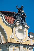 Hausdetail am Altstädter Ring (Staromestske Namesti), Prag, Tschechien, Unesco-Weltkulturerbe.