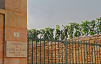 Clos de Tart vineyard and iron gate in Morey Saint Denis belonging to Mommessin, Bourgogne