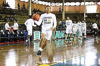JOINT BASE PEARL HARBOR-HICKAM, HI - December 7, 2016: Cal Bears Men's Basketball team vs. the Seton Hall Pirates in the FS1 Pearl Harbor Invitational at Bloch Arena.  Final score, Cal Bears 57, Seton Hall Pirates 60.