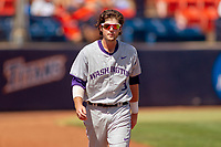 University of Washington Huskies Jonathan Schiffer (3) prior to the game against the Cal State Fullerton Titans at Goodwin Field on June 08, 2018 in Fullerton, California. The University of Washington Huskies defeated the Cal State Fullerton Titans 8-5. (Donn Parris/Four Seam Images)