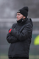 Woluwe's head coach Audrey Demoustier pictured during a female soccer game between SV Zulte - Waregem and White Star Woluwe on the 9th matchday of the 2020 - 2021 season of Belgian Scooore Women s SuperLeague , saturday 12 th of December 2020  in Waregem , Belgium . PHOTO SPORTPIX.BE | SPP | DIRK VUYLSTEKE