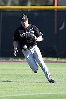 March 13, 2010:  Outfielder Cody Murtle of Army vs. Long Island University Blackbirds in a game at Henley Field in Lakeland, FL.  Photo By Mike Janes/Four Seam Images