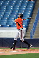 Keenan Bell (36) of Episcopal School of Jacksonville in Jacksonville, Florida playing for the Baltimore Orioles scout team during the East Coast Pro Showcase on July 28, 2015 at George M. Steinbrenner Field in Tampa, Florida.  (Mike Janes/Four Seam Images)