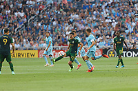 ST PAUL, MN - JULY 24: Cristhian Paredes #22 of the Portland Timbers during a game between Portland Timbers and Minnesota United FC at Allianz Field on July 24, 2021 in St Paul, Minnesota.