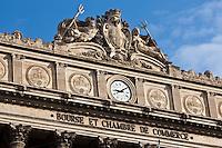 Europe/France/Provence-Alpes-Côte d'Azur/13/Bouches-du-Rhône/Marseille: Palais de la Bourse - Musée de la Marine sur la Canebière édifié par l'architecture Pascal Coste et inauguré par Napoléon III en 1860